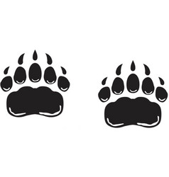 Bear paws logo vector