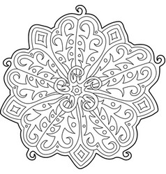 beautiful floral pattern for coloring book page vector image