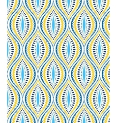 Blue and Yellow Decorative Pattern vector image