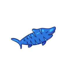 cartoon shark character vector image
