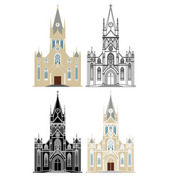 Cathedral our lady good trip in belo vector