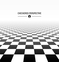 Checkered perspective background vector image