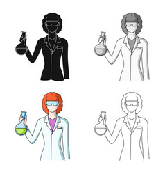 chemistprofessions single icon in cartoon style vector image
