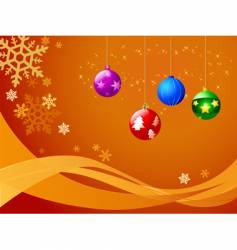 Christmas ball ornaments vector image vector image