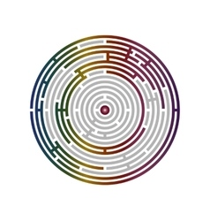 Circular labyrinth abstract logic puzzle vector image