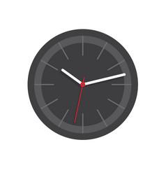 Clock face watch icon isolated black dark vector