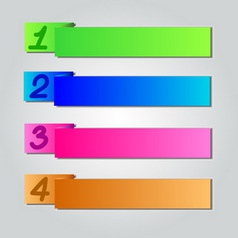 Colorful Origami Style Number Banner amp Card vector image