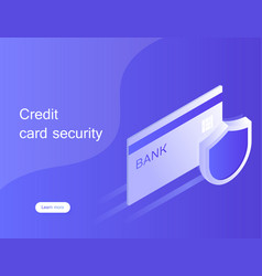 Concept credit card security online payment vector