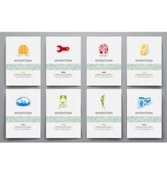 Corporate identity templates set vector