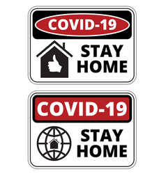 covid19-19 stay home vector image