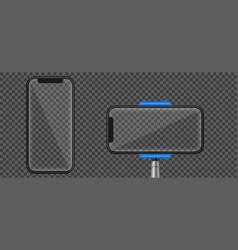 creative of monopod selfie vector image