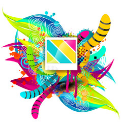 Creative template multicolor background abstract vector