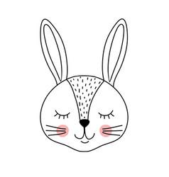 cute adorable rabbit vector image