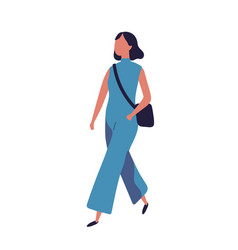 Cute funny young teenage girl dressed in stylish vector