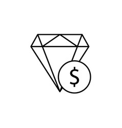 diamond dollar icon element of finance signs and vector image