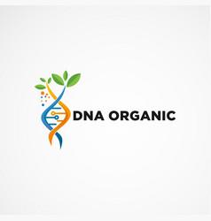 dna organic logo concept icon element vector image
