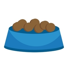 Dog food cap vector image