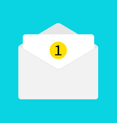 email icon white paper envelope open letter vector image