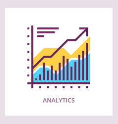 Financial analytics icon business concept vector