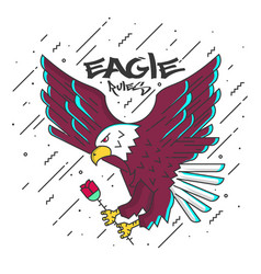 Flat designed eagle vector
