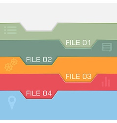 Flat interface design - files to choose vector image