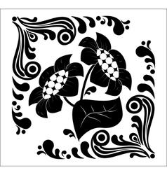 flower stencil decorative vector image