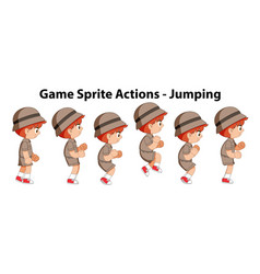 Game sprite actions - jumping vector