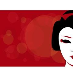 Geisha background vector
