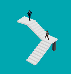 girl in a business suit climbs stairs to the vector image