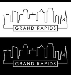 grand rapids skyline linear style editable file vector image