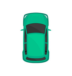 Green car top view city vehicle transport vector