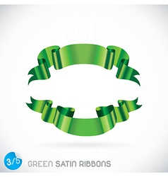 Green Satin Ribbons vector image