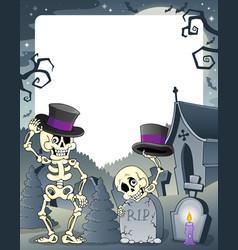 Halloween theme frame 3 vector
