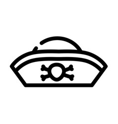 Hat pirate line icon vector