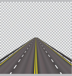 high-speed highway in the future isolated on a vector image