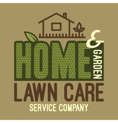 Home and garden lawn care t-shirt vector