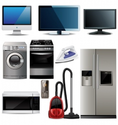 household electronic elements vector image