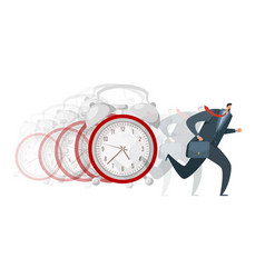 hurry late arrival busy business worker running vector image