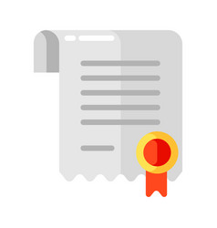icon certificate in flat style vector image