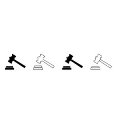 icon gavel hammer for judge logo law vector image