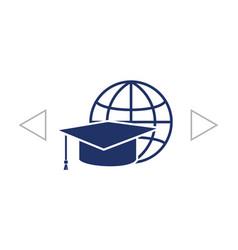 Internet training icon vector