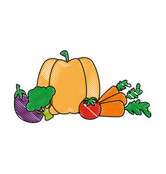 Isolated cute vegetables vector