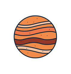 Isolated jupiter line fill style icon vector