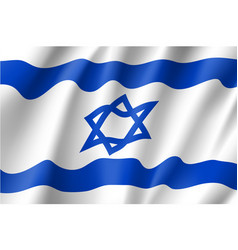 Israel national flag vector