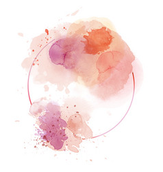 light red abstract watercolor background vector image