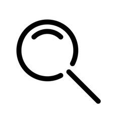 magnifying glass symbol search icon outline vector image