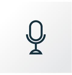 microphone outline symbol premium quality vector image