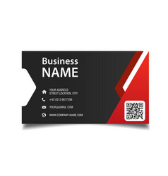 modern business card red and black background vect vector image
