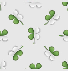 modern st patrick s day seamless pattern with vector image