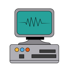 monitor cardiology pulse medicine device vector image